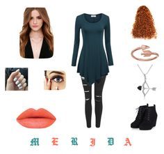 """""""Disney {Merida}"""" by destinys-untold on Polyvore featuring Topshop, Amanda Rose Collection, Lulu*s, Alex and Ani, women's clothing, women, female, woman, misses and juniors"""