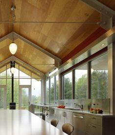 Exposed kitchen.