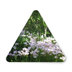 Nature Photo Flowers NewJersey  America NVN665 FUN Triangle Stickers