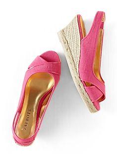 Talbots - Lexa Linen Espadrille ~~ This shoe is so pretty.