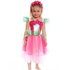Flower Fairy Dress:- This gorgeous multi colored flower dress with wings is a mus. The skirt is layered and petaled with a satin underlay for comfort. Adorned with handmade organza flowers and pretty petalled sleeves. Great color combination.