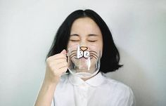 See-Through Cat Cup  30 Fashion & Household Items That Every Cat Lover Would Love To Own • Page 2 of 6 • BoredBug