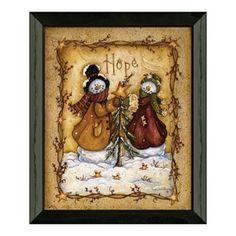Timeless Frames Snow Folk ''Hope'' Framed Wall Art
