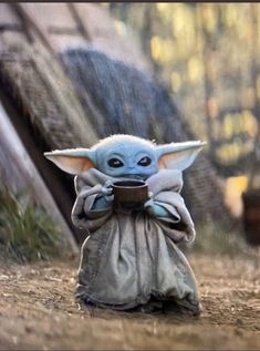 The latest meme obsession is Baby Yoda peacefully sipping a cup of soup, from episode 4 of The Mandalorian, streaming on Disney+. See more of the very best additions to this new moment of adorable. Star Wars Meme, Simbolos Star Wars, Yoda Meme, Yoda Funny, Star Wars Baby, Really Funny Memes, Funny Relatable Memes, Funny Stuff, Funny Gifs