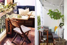 Small balconies ideas - Inspirações para decorar uma varanda pequena