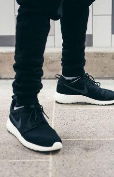 the best attitude 3cfad a9089 NIKE Roshe Run × Black Trousers  streetwear  mensfashion  sneakers High  Fashion, Runway