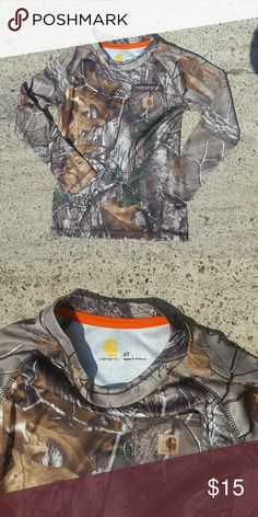 ☇Sale☇NWOT Carhartt Camo Long Sleeve Force Camouflage long sleeve shirt from Carhart. Never worn. Carhartt Shirts & Tops Tees - Long Sleeve