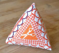 Triangle Prism Pincushion by shecanquilt
