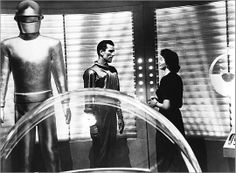 The Day the Earth Stood Still (1951) / a much better vision of the future tech in this movie where the interior of the spaceship really looked futuristic.  Our technology advances give us a more advanced way of predicting and portraying the future.