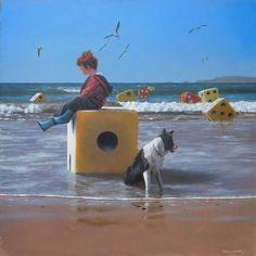 Jimmy Lawlor - Square One Double Exposition, Jimmy Lawlor, Most Beautiful Paintings, Irish Art, Weird Creatures, Fantastic Art, Surreal Art, Community Art, Love Art