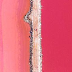 Lake Hillier, Australia by Bryan Anthony
