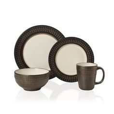 Shop for Pfaltzgraff Everyday Gourmet B. Mikasa Avery 16-piece Stoneware Dinnerware Set. Get free delivery at Overstock.com - Your Online Kitchen & Dining Outlet Store! Get 5% in rewards with Club O! - 20139801