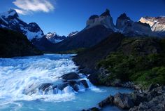 Image detail for -Cascades and Cuernos, Torres del Paine National Park in Chile