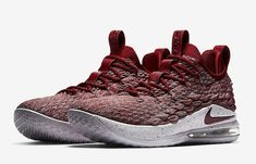 Nike LeBron 15 Low Color  Taupe Grey Team Red-Vast Grey Style Code 10ecad9b2