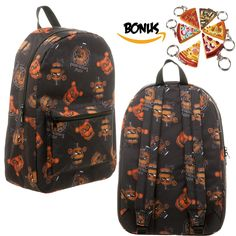 Five Nights at Freddy's Freddy Fazebear's Pizza Backpack and Keychain -- Find out more details by clicking the image : Christmas Luggage and Travel Gear