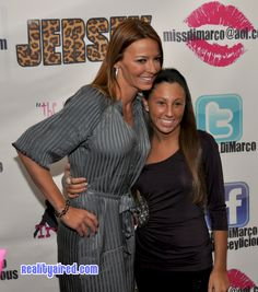 Drita D'Avanzo and a fan on the red carpet at Tracy DiMarco's birthday event Tracy Dimarco, Mob Wives, Red Carpet Looks, Fan, Birthday, Birthdays, Hand Fan, Dirt Bike Birthday, Birth Day