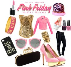 """""""Totally Fearless with Pink Friday Nicki Minaj"""" by amandageorge on Polyvore"""