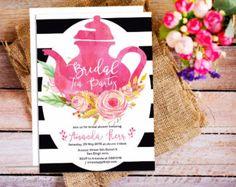 Floral Bridal shower Tea Party InvitationFloral Bridal Shower