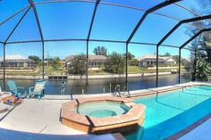 WATERFRONT, HEATED POOL &SPA, CANAL - vacation rental in Cape Coral, Florida. View more: #CapeCoralFloridaVacationRentals