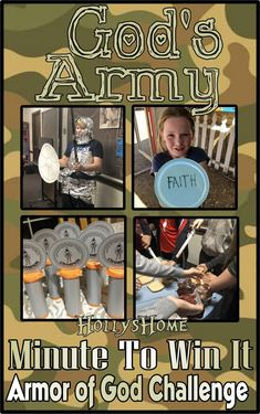HollysHome - Church Fun: God& Army, Armor of God Minute to Win it Games - - Youth Group Games, Youth Activities, Church Activities, Kids Church Games, Youth Groups, Therapy Activities, Army Games For Kids, Sunday Activities, Church Camp