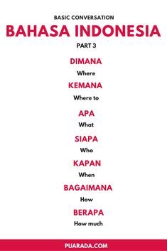 are some basic for Bahasa Indonesia. This is specially for people who are going to travel to Indonesia or simply want to learn. English Tips, English Study, English Lessons, Learn English, English Language Learning, Speak Language, Teaching English, Foreign Language, Malay Language