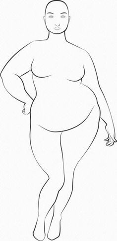 Fashion designers are artistic, but they're not figure artists, and it's unreasonable to expect them to be so. Here are some examples of fat croquis . Fashion Illustration Template, Illustration Mode, Digital Illustration, Design Illustrations, Medical Illustration, Body Sketches, Drawing Sketches, Drawing Tips, Sketching