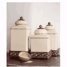Kitchen Canister Set In Olive | KITCHEN CANISTERS | Pinterest | Kitchen  Canister Sets, Kitchen Canisters And Canister Sets