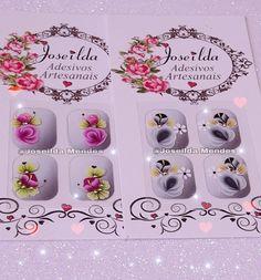 Nail Stickers, Nail Arts, Work Nails, Nails, Flowers