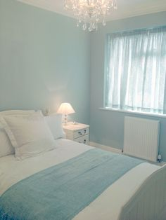 Guest Room finally finished ..Laura Ashley Duck Egg Blue