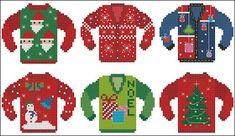 Counted Cross Stitch Patterns by Pinoy Stitch: Ugly Christmas Sweater Cross…
