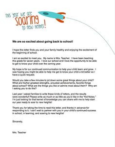 teachers letter to parents - Google Search