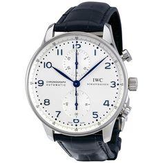 IWC Portuguese Chronograph Automatic Silver Dial Blue Arabic Watch IW371446