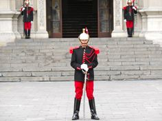 Guards at the Presidential Palace in Lima