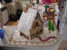 Mama's 1999 Gingerbread house
