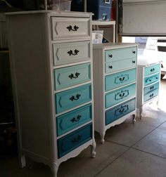 Ideas For Baby Girl Nursery Room Ideas Teal Dressers Teal Painted Furniture, Refurbished Furniture, Repurposed Furniture, Furniture Makeover, Painted Dressers, Home Decor Bedroom, Diy Home Decor, Bedroom Ideas, Furniture Projects