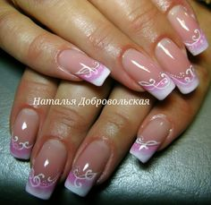 Trendy Nails Spring Design French Tips Elegant Nails, Stylish Nails, Trendy Nails, French Manicure Nails, French Tip Nails, French Pedicure, Nail Nail, French Toes, Fingernail Designs