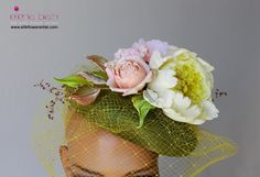 Custom order  Hat adorned with couture silk flowers Learn silk flower art with step-by-step video tutorials: http://www.silkflowerartist.com/ More photos of this creation you can find here: http://www.silkflowerartist.com/…/hat-adorned-with-couture-… Enjoy creating!