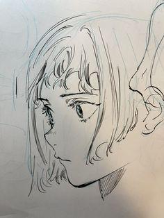 Anime Character Drawing, Manga Drawing, Manga Art, Character Art, Anime Drawings Sketches, Anime Sketch, Art Reference Poses, Drawing Reference, Estilo Anime