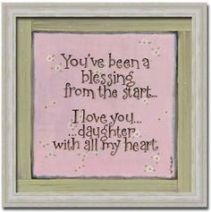 i miss my daughter images | Love You Daughter with All My Heart Sign Art Framed | eBay