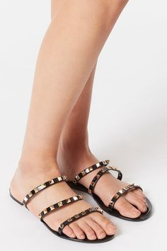 Jelly Studded Triple Band Sandal – Charlotte Russe