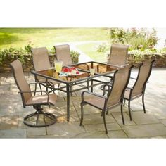 Hampton Bay Charlemont 7 Piece Patio Dining Set XAS 1750 At The Home