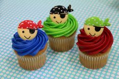 Pirate cupcake toppers!