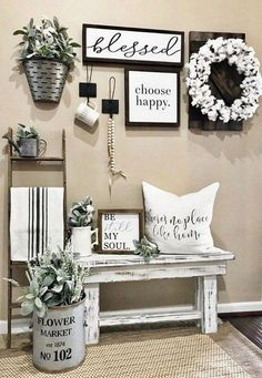 Looking for for ideas for farmhouse living room? Check this out for perfect farmhouse living room ideas. This specific farmhouse living room ideas will look completely amazing. Farmhouse Wall Decor, Farmhouse Style Decorating, Country Decor, Modern Farmhouse, Farmhouse Ideas, Rustic House Decor, Farmhouse Living Room Decor, Farmhouse Design, Farmhouse Bench
