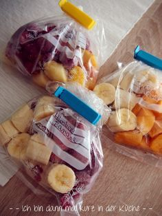 Früchte für Smoothies auf Vorrat portioniert einfrieren Mehr