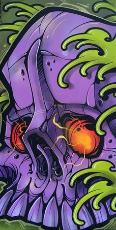 Image of Sewer Skull Graffiti Drawing, Graffiti Art, Art Drawings, Graffiti Wallpaper, Shetland, Graffiti Characters, Geniale Tattoos, Samurai Art, Dope Art
