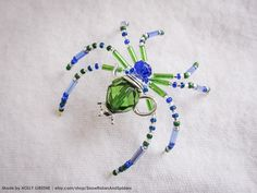 Give a gift of fairy-tale and magic! My beaded Spiders do just that. Each one is unique, no two alike. Spiders are approx 2-3 inches around in size. Materials are glass bead, metal wire and glass seed and bugle beads. Also makes a great gift beyond the Christmas holiday, great