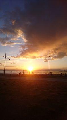 Sunset, Thessaloniki, sea walk