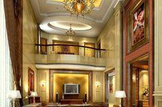 luxury tv room design | sitting room luxury villa sitting room wall design ceiling design