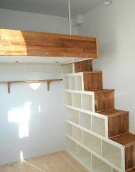 loft beds box room wood ladder storage