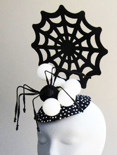 halloween fascinator hat spider_web2